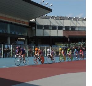 自転車トラック競技模擬レース